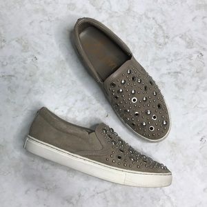 Sam Edelman Paven Suede Studded Slip on Sneakers 7